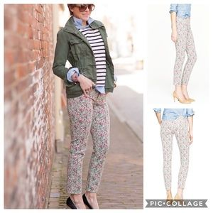 J. Crew Liberty Floral Toothpick Ankle Pants